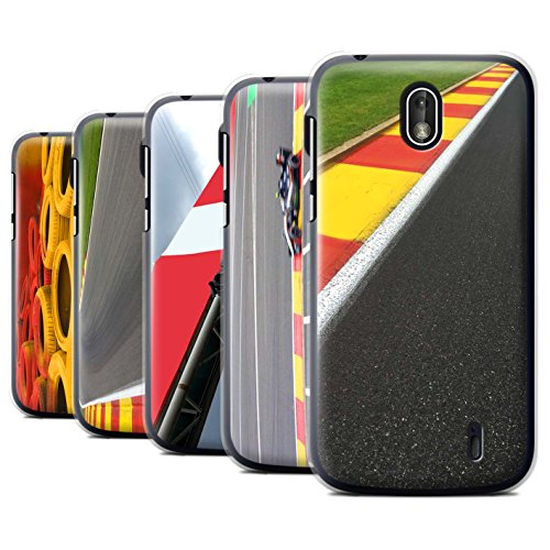 STUFF4 Phone Case/Cover for Nokia 1 2018/Pack 5pcs/Race Track Photo Collection ()