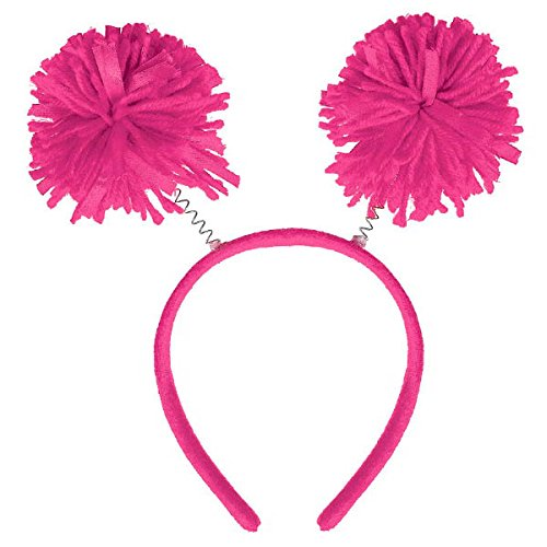 Amscan Pink Pom Pom Headboppers, Party Accessory, 9 Ct.