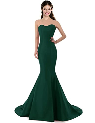 Color e Dress Women's One Shoulder Mermaid Prom Dresses Wedding Party Long Formal Dresses