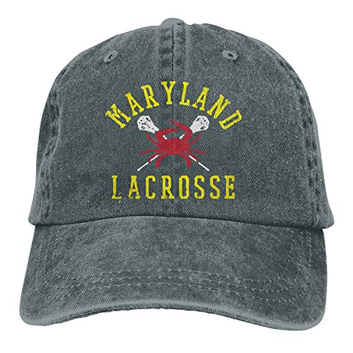 Unisex Baseball Cap Hat Maryland Crab Lacrosse Washed Denim Dad Hat for Women
