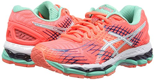 Running 17 ASICS Nimbus Red White Flash Gel 0601 Coral Blue Women's Shoes Indigo OIcIWn1fr