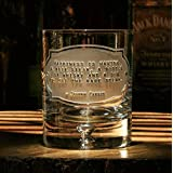 Johnny Carson Whiskey Legend Quote Cocktail Glasses, Set of 4