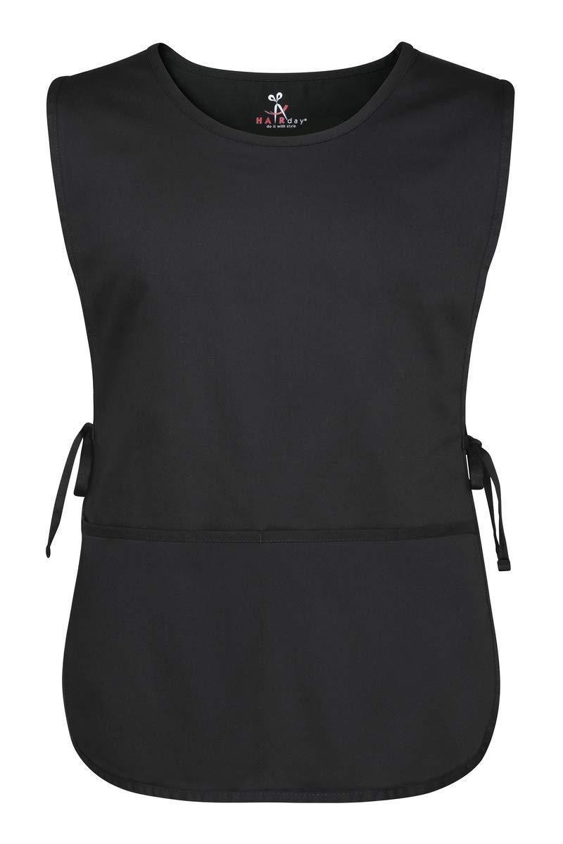 Cobbler Apron and Bib Apron - 100% Cotton Apron 2 Pocket, Adjustable Tie by Hairday Care Professionals (Regular, Black)