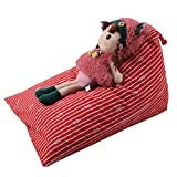 Creazydog Creazy Kids Stuffed Animal Plush Toy Storage Bean Bag Soft Pouch Stripe Fabric Chair (C)