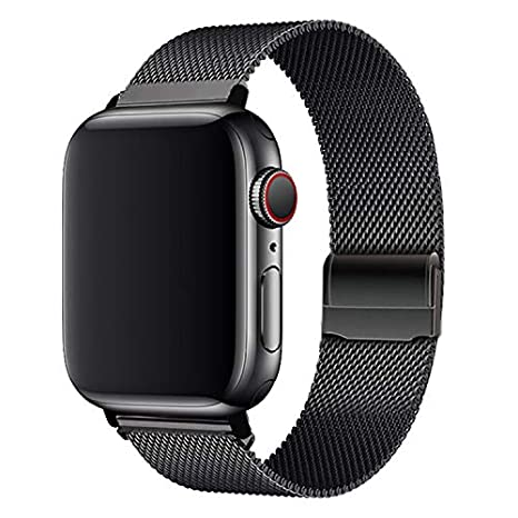 WAAILU Compatible with Apple Watch Band 38mm 40mm 42mm 44mm, Colorful Stainless Steel Mesh Sport Wristband Loop Compatible for iWatch Series 4/3/2/1