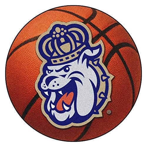 FANMATS NCAA James Madison University Dukes Nylon Face Basketball Rug