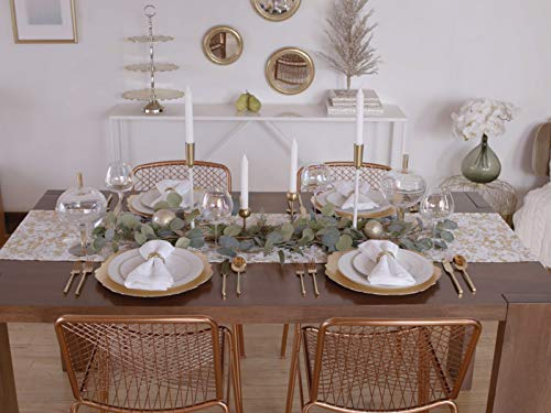 Holiday Dining Room Table: 4 Ways (Buffet Settings)