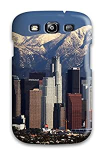 QROrHEH10936LzPNx CaseyKBrown Awesome Case Cover Compatible With Galaxy S3 - Los Angeles City