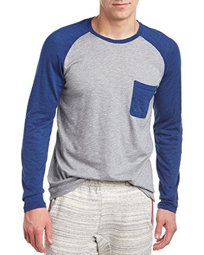2(x)ist Men's Baseball T-Shirt, Light Grey Heather/Estate Blue, Medium