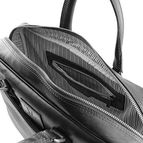 Tuscany Leather - Cartable en cuir - Noir