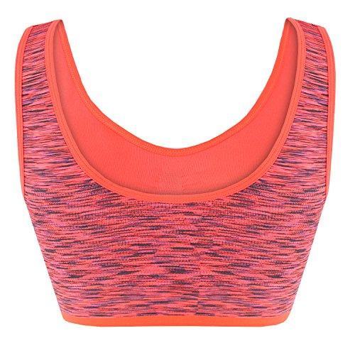 Libella - Sujetador deportivo - Básico - para mujer naranja