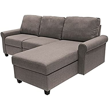 Serta Copenhagen Reclining Sectional with Right Storage Chaise - Gray
