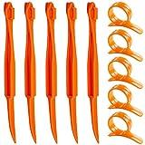 Orange Citrus Peelers, SENHAI Set of 10 Plastic Fruit Lemon Skin Remover Slicer