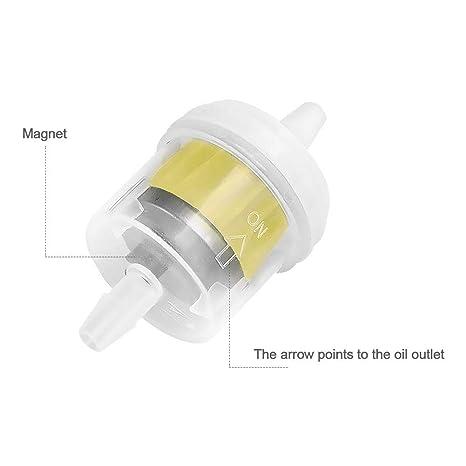 10pcs 6-7mm 1//4/'/' Universal Benzinfilter Kraftstofffilter Filter Motorrad Roller