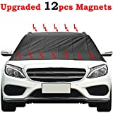 Kribin Magnetic Windshield Snow Cover with 12 PCS Powerful Magnets - Upgraded Windshield Snow Ice Cover - Extra Large for Most Car SUV Truck