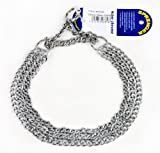 HS METAL COLLARS Herm Sprenger Triple Choke Collar, 26-inch by 2.0 Millimeter, Chrome Plated Steel, Made in Germany