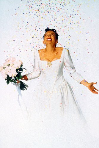 Toni Collette Muriel's Wedding In Dress Holding Flowers Confetti 24X36 Poster