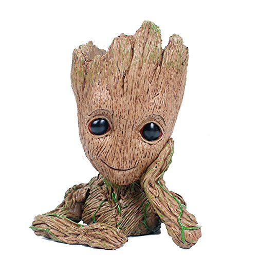 TOY INNOVATION Fashion Guardians of The Galaxy Flowerpot Baby Groot Action Figures Cute Model Toy Pen Pot Best Christmas Gifts For Kids
