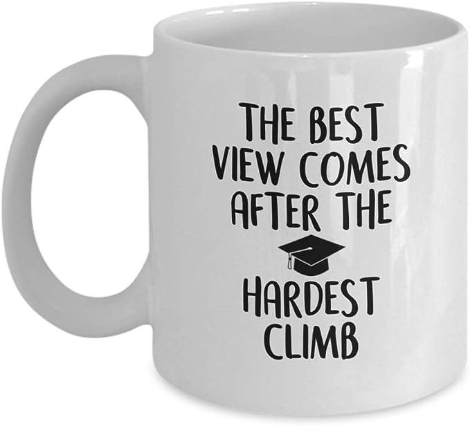 La mejor vista viene después de la escalada más difícil ...