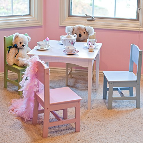 Durable Wood Construction Kidkraft Nantucket Pastel Table and Chair Set - 4 Chair Set Pastel