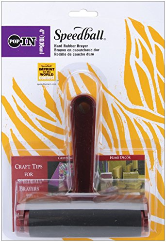 4'' Hard Rubber Brayer with Pop in Roller by Speedball