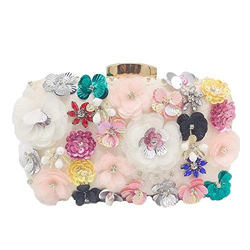Purse Evening Wedding Handbag Party Crystal Beaded Clutch Flower Rising Bags Bridal Purpleflowerbag Women ON Bwq6nUH
