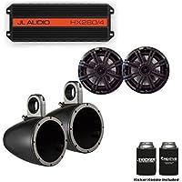 JL Audio HX280/4 Powersports Amp with Kicker KMTES speaker enclosure and OEM 6.5 Kicker Marine Speakers