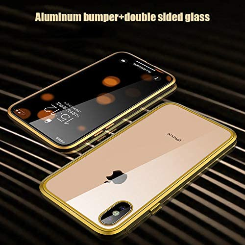 XuBa Front Back Tempered Glass 360 Full Magnetic Case for iPhone X XS MAX XR red iPhone Xs Max