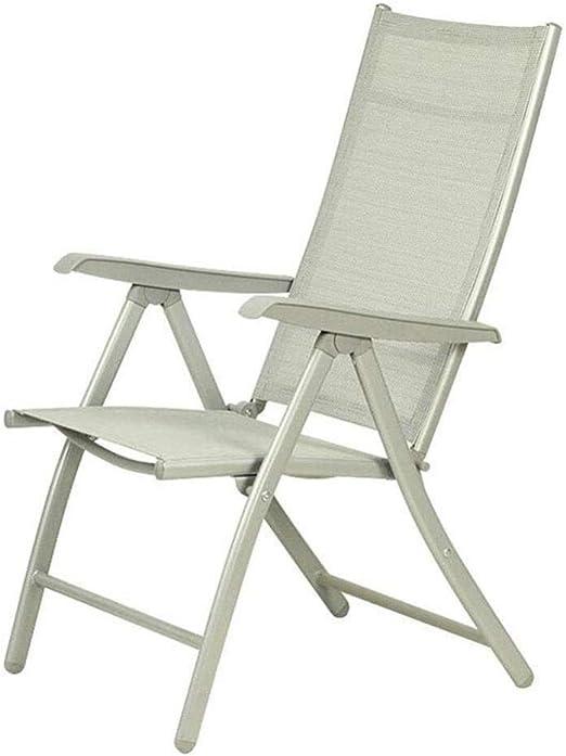 FENGFAN Sillas de jardín Plegables Respaldo de Aluminio Silla reclinable reclinable Apoyabrazos Sillón Exterior (Color : 1 Piece): Amazon.es: Hogar
