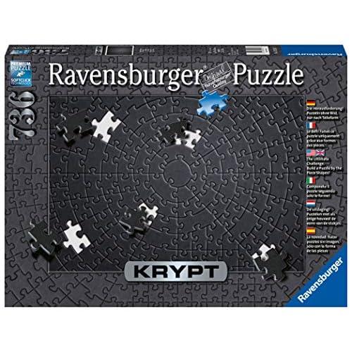 51pCHYPSzPL. SS500 Ravensburger puzzle para adultos de la linea krypt Puzzle monocromáticos para todos los fanáticos de los puzzles El desafio no radica en el motivo impreso, sino observar la forma muy particular de las diversas piezas y buscar su ajuste