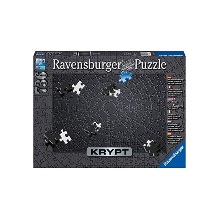 51pCHYPSzPL Ravensburger puzzle para adultos de la linea krypt Puzzle monocromáticos para todos los fanáticos de los puzzles El desafio no radica en el motivo impreso, sino observar la forma muy particular de las diversas piezas y buscar su ajuste