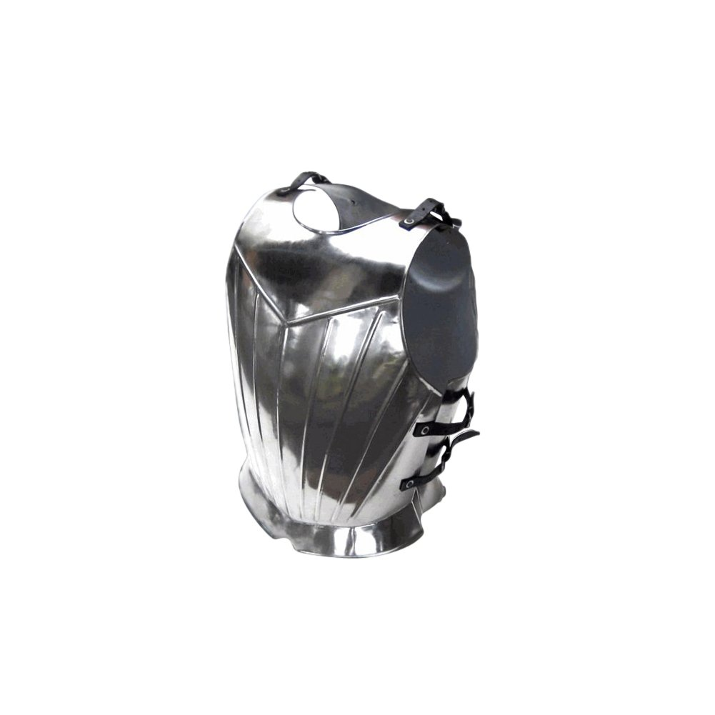 Armor Venue Fluted Gothic Breastplate - Medieval Armor One Size - Silver by Armor Venue (Image #1)