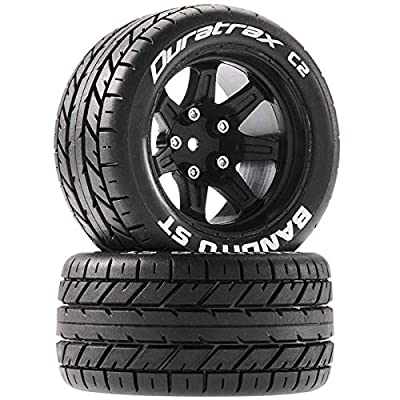 Duratrax Bandito ST 2.8 Mounted Tires, Black 14mm Hex (2), DTXC5200: Toys & Games