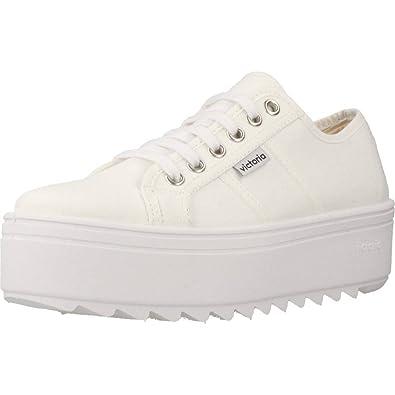 Zapatillas Victoria 09302 - Plataforma Lona Dentada: Amazon.es: Zapatos y complementos