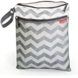 Skip Hop Grab and Go Wet/Dry Bag Chevron (Grey)