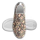 DiamondsJun Unisex Abstract Motifs With Ethnic Design And Modern Artwork Raindrop Shape All Over 3D Printed Mesh Slip On Fashion Comfortable Shoes 45