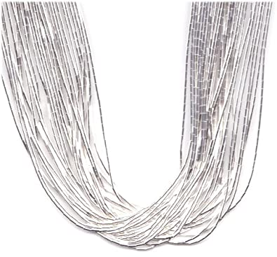 badaad6ab3902 Amazon.com: 30 Strand 24 Inch Sterling Liquid Silver Necklace: Chain ...