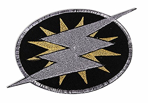 Forum Novelties 76596 Be Your Own Superhero Lightning Bolt Embroidered Patch Costume Accessory, Standard, Black/Silver