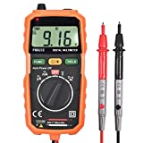 Neoteck Multimeter 1999 Count Auto Ranging Mini Digital Multimeter Tester Meter DMM DC AC Current Voltmeter with Non-Contact Voltage Detection and Backlight LCD Probe for DIY School Laboratory Factory and Other Social Fields