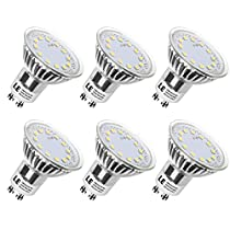 LE 3W MR16 GU10 LED Bulbs, 50W Halogen Bulbs Equivalent, 350lm, 120° Beam Angle, 5000K Daylight White, LED Light Bulbs, Pack of 6 Units
