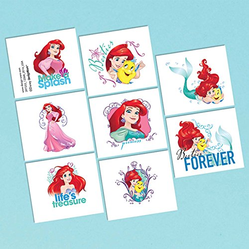 Little Mermaid Tattoo Favors (16 Pack) - Party Supplies ()