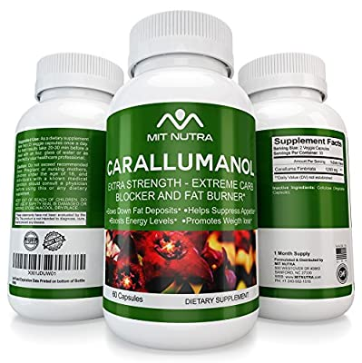 Caralluma Fimbriata Extract For Weight Loss - Carb Blocker - Carallumanol - 2017 / 2018 Best Selling Diet Pills, Fat Burner, Appetite Suppressant Works For Men And Women