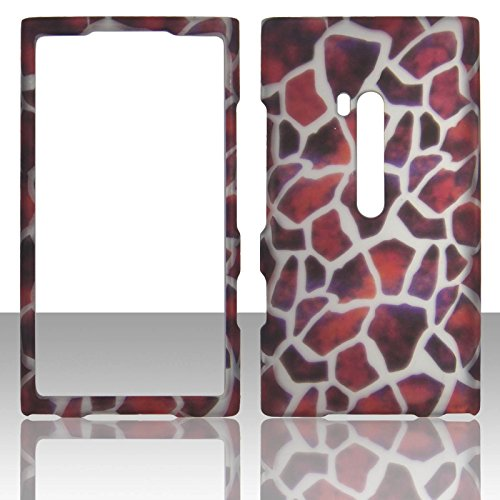 Giraffe Faceplate - For Nokia Lumia 900 AT&T Giraffe Skin Case Cover Hard Phone Case Snap-on Cover Rubberized Touch Protector Faceplates (Giraffe Skin)