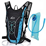 MONOTELE 12l Waterproof Outdoor Backpack Hydration Packs with 2l/68 Oz Bladder Cycling Running Hiking Water Bag Bicycle Packing Organizers Men and Women (blue)