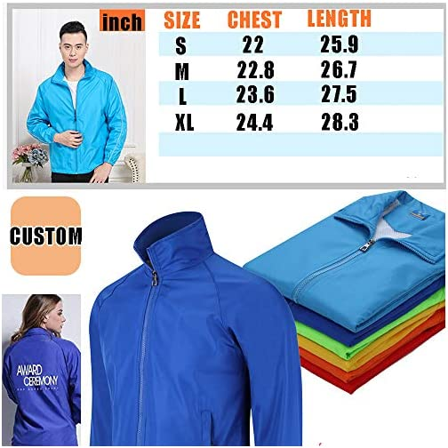 yunzhenbusiness Men Windbreaker Jacket Customize Your Logo Long Sleeve Shirts Workwear Jackets for Outdoor Team Work… |