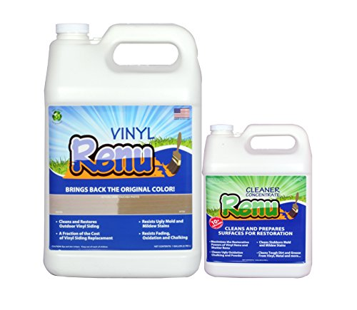 (Vinyl Renu 1 Gallon Kit Will Restore Color And Shine To Faded Plastic, Metal And Painted Surfaces. It Is An Easy To Use Longer Lasting, No Mess Alternative To Paint. Apply Once Every 10 Years.)