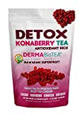 Herbal Detox Tea – Natural Green Tea Infused- with the Full Bodied Taste of Wild Konaberry. Antioxidant Rich Teatox Cleanse For Total Body Health