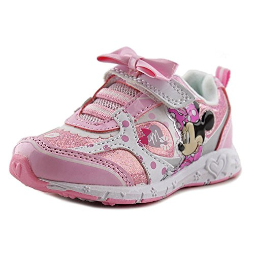 Disney Girls' Minnie Mouse Light Up Sneakers 7 Toddler ()