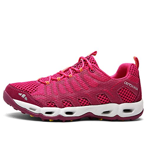 Rose Boating Hiking Casual amp; Walking Women's Shoes Water Bornran Sneakers Outdoor Red Trail BxwP65Fq