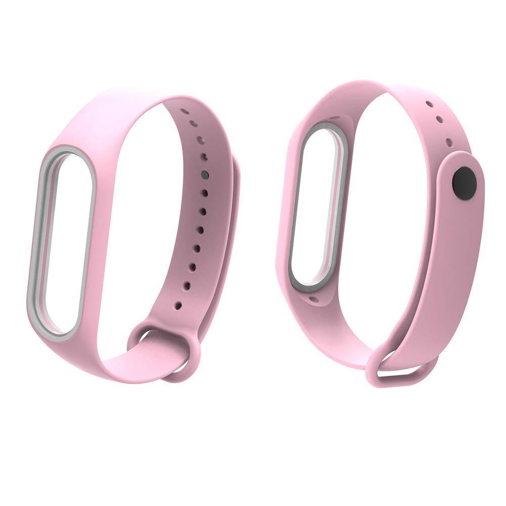 Fullfun Bracelet for Xiaomi Mi Band 3 Sport Strap Watch Wrist Miband 3 Strap (Pink)